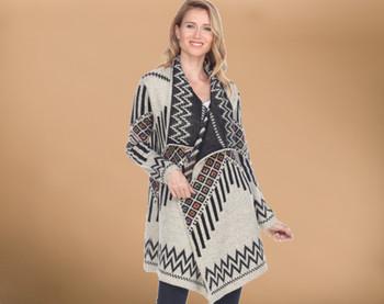 Southwestern Ladies Cardigan Sweater - Medium