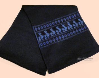 Southwestern Alpaca Wool Scarf - Blue