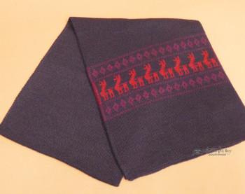 Southwestern Style Alpaca Wool Scarf -Purple