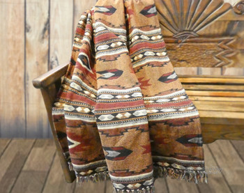 100% Cotton Southwestern Woven Throw - Zuni