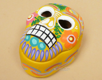 2 piece Hand Painted Day of the Dead Jewelry Box with lid