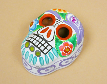 Hand Painted Matte Day of the Dead Jewelry Box