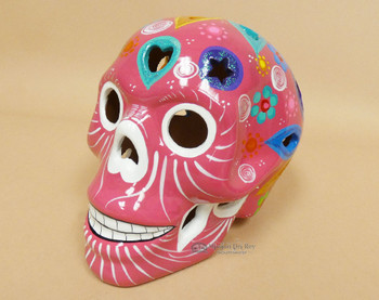 Hand Painted Day of the Dead Lantern Sugar Skull