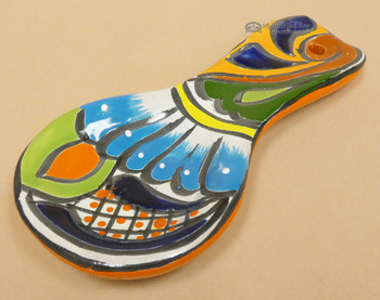 Hand Painted Mexican Spoon Rest