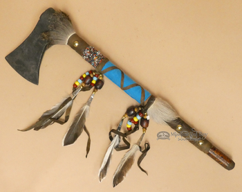 Deer Skin Leather Tomahawk