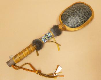 Navajo Beaded Turtle Shell Rattle