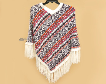 Traditional Knitted Alpaca Poncho