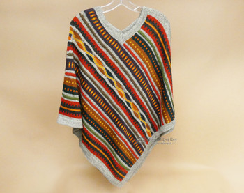 Classic Knitted Alpaca Poncho