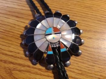 Sterling Silver Navajo Bolo Tie
