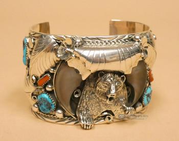 Sterling Silver Bear Cuff