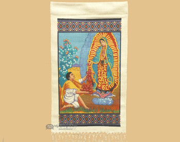 Guadalupe con Diego Wall Hanging 15x26