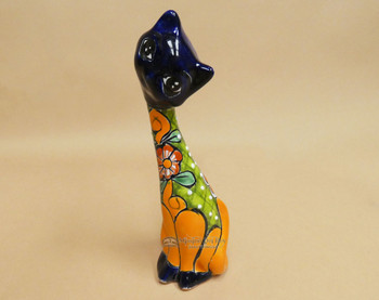 Mexican Talavera Cat 9""
