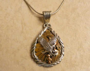 Southwestern Sterling Silver Pendant & Chain