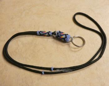 Native American Navajo Beaded Lanyard Keychain