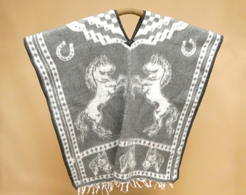 Soft Blanket Poncho - Grey