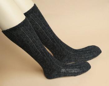 Pair of Blue/Black Alpaca Socks
