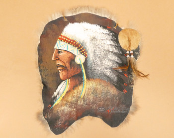Southwestern Painted Rabbit Hide - Indian Chief