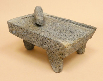 Flat Stone Mortar and Pestle