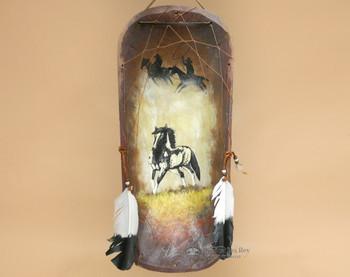 Southwestern Hand Painted Wooden Bowl - Stallion