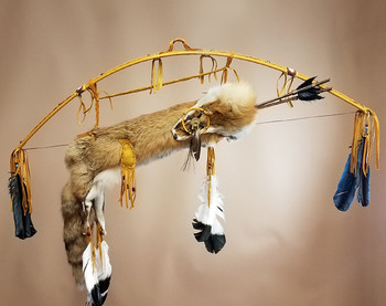 Navajo Deer Skin Bow & Red Fox Quiver