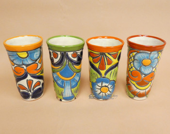 Hand Painted Talavera Cup 4 Piece Set