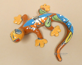 Hand Painted Mexican Talavera Lizard