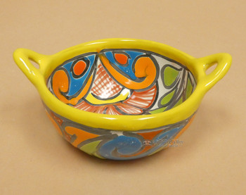 Hand Painted Mexican Talavera Salsa Bowl