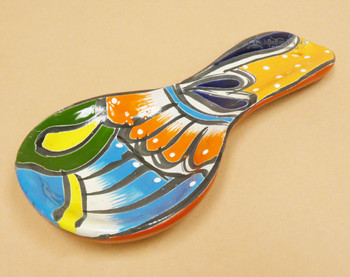 Hand Painted Mexican Talavera Spoon Rest