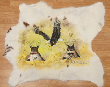 Hand Painted Cowhide - Eagle Village