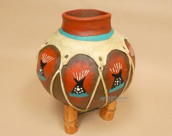 Hand Painted Tarahumaran Bean Pot - Teepee