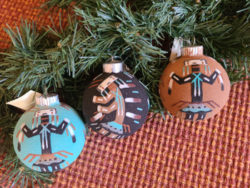 Navajo Sand Painted Christmas Ornament Set