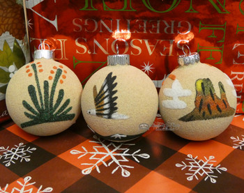 Navajo Sand Painted Painting Ornaments