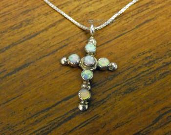 Opal & Silver Cross