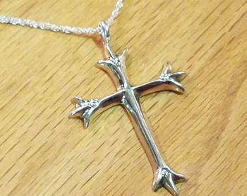 "Sterling Silver Cross Necklace 20"" -Zuni"