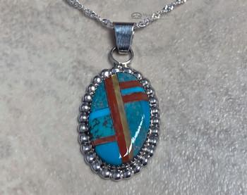 Native American Zuni Pendant Necklace