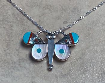 """Zuni Butterfly Necklace 20"""""""