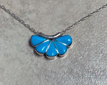 "Native American Turquoise Pendant 18"" - Zuni"
