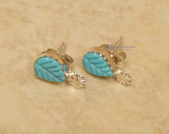 Native American Zuni Turquoise Earrings