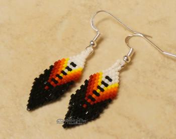 Beaded Native American Zuni Earrings
