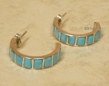 Turquoise Native American Zuni Earrings