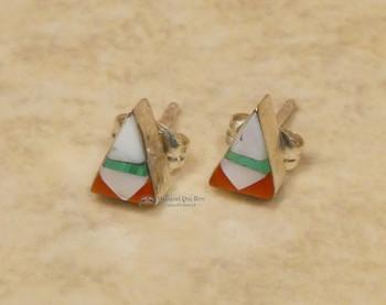 Native American Zuni Stud Earrings