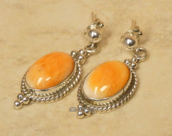 Native American Zuni Spiny Oyster Earrings