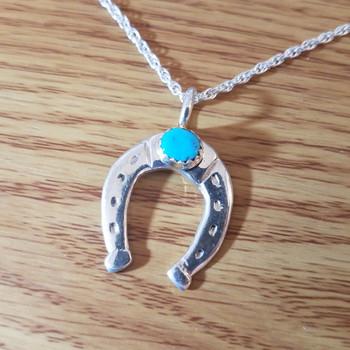 "Sterling Silver Native American Zuni Necklace 20"""
