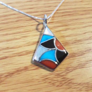 Sterling Silver Native American Zuni Necklace