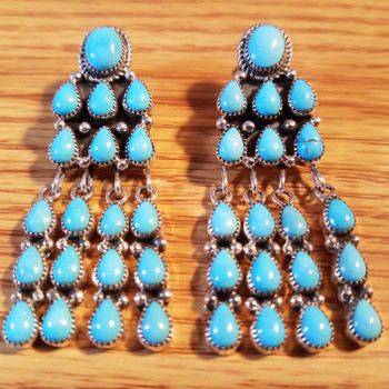 Native American Turquoise Earrings -Zuni