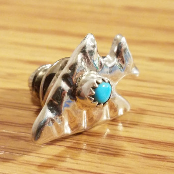 Native American Zuni Sterling Silver Pin -Arrowhead