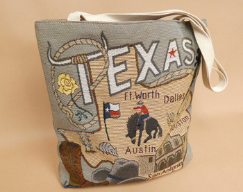 Texas City And State Tote Bag