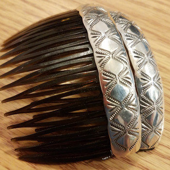 Set of Native American Sterling Silver Hair Barrettes