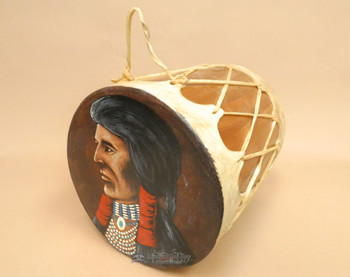 Native American Tarahumara Indian Painted Drum