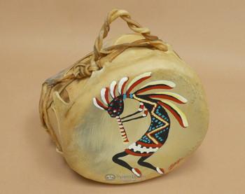 Native American Tarahumara Painted Drum - Kokopelli